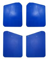 Set of 4 Blue Polyurethane Mud Flaps